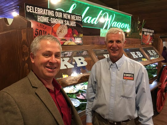 State Secretary of Agriculture Jeff Witte, left, was