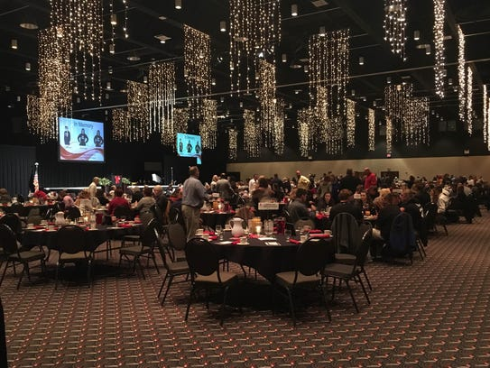 About 600 people attended the 21st annual Red Ribbon