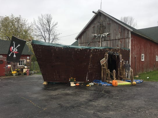 Linda Miller turned her barn into a pirate ship to