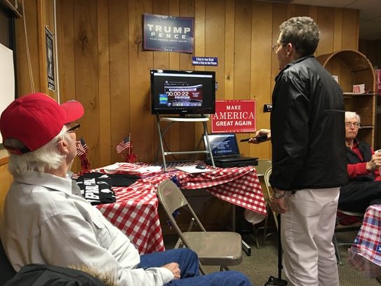 Local GOP supporters watch election results from their