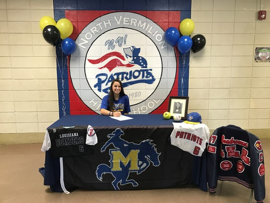 North Vermilion's Demi Boudreaux signs her national