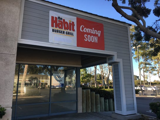 The Habit Burger Grill is in the early stages of construction