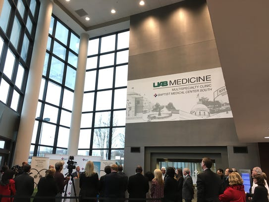City leaders speak Tuesday at the UAB Multispecialty