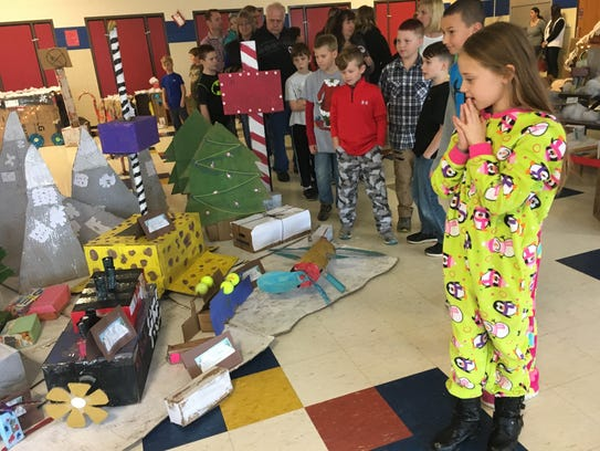 Sydnee Bowers, a 9-year-old fourth-grader at Stewartstown