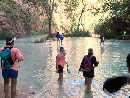 One of the many water crossings on the hike to Beaver