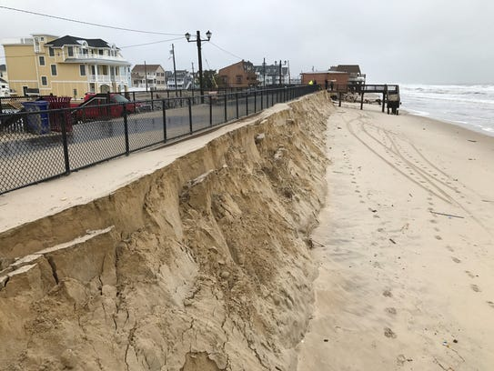 The nor'easter that blew through New Jersey through