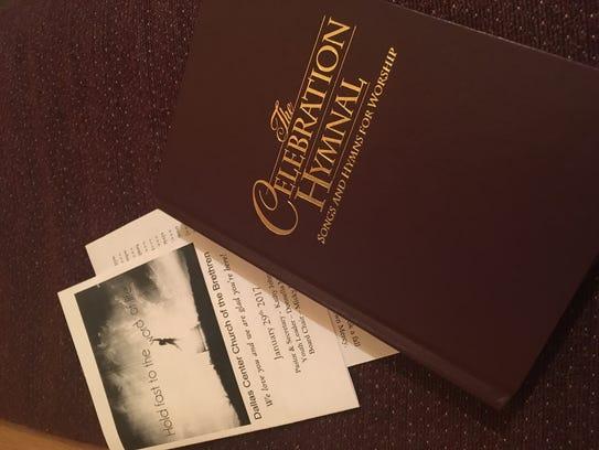 The bulletin at Dallas Center Church of the Brethren