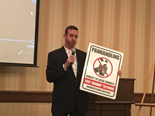 Marketing professional Matt Morgan presents prototype