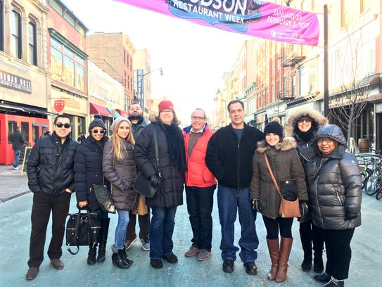 The Jersey Girls Food Tours group embarking on their