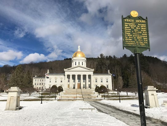 The Statehouse in Montpelier is seen in February 2017.