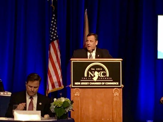 """Gov. Chris Christie speaking at the """"Walk to Washington"""""""