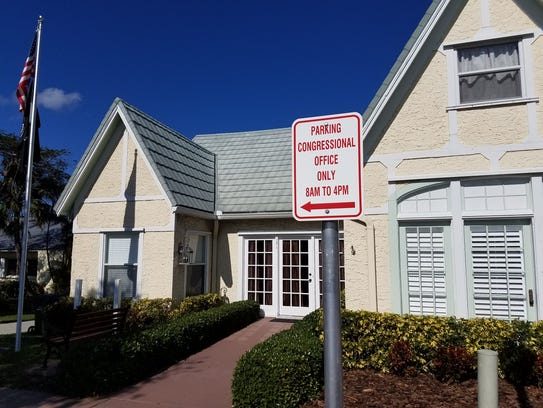 U.S. Rep. Brian Mast's district office on Flagler Avenue