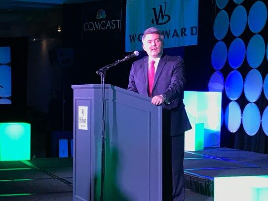 U.S. Sen. Cory Gardner speaks at the Fort Collins Area