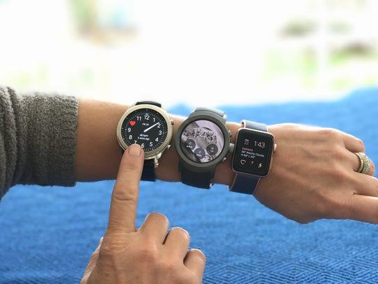 Gear 3 Classic,LG Sport, Apple Watch Series 2