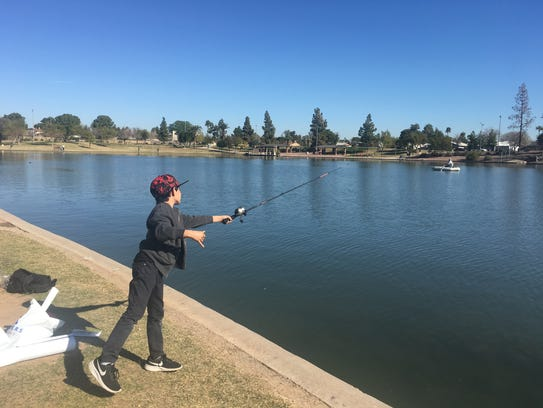 """The """"Just for Kids"""" Fishing Festival in Tempe at Kiwanis"""