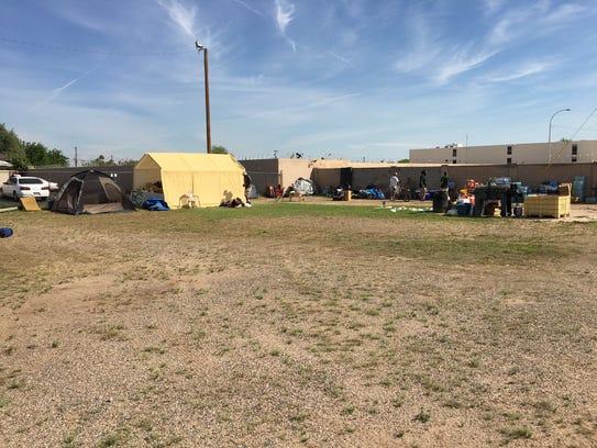 Veterans on Patrol temporarily set up camp near 19th