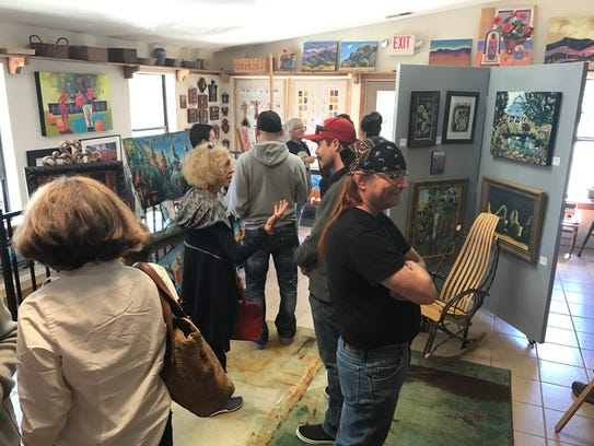 Crowds flocked to see the paintings of artist Kathleen
