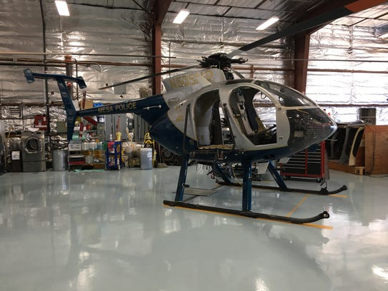 One of the Mesa Police Department's three helicopters