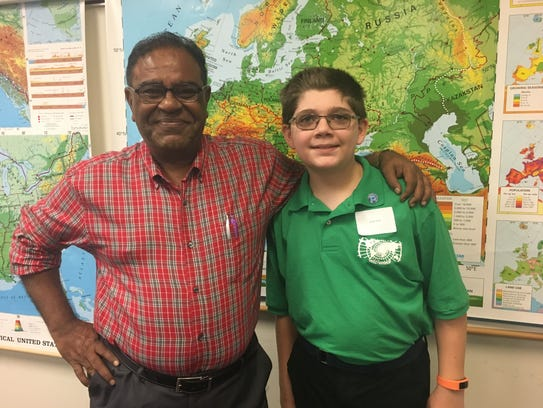 Cypress Lake Middle School student Jacob Silver has