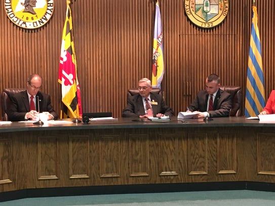 Bob Culver, Wicomico County Executive (left) and Salisbury