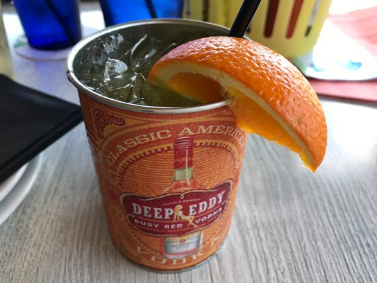 A Matlacha Mule from the cocktail list at FINS Seafood