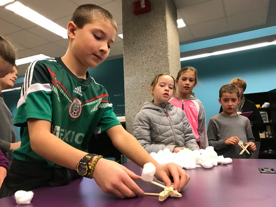 Students from Oostburg Christian School built miniature