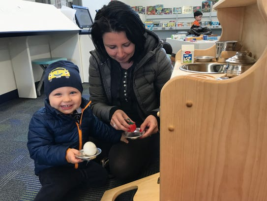 Aga Cholody of Paramus, and her 7-month-old son Adrian