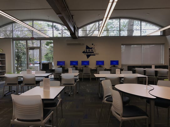 This photo shows the Paramus Public library after renovations