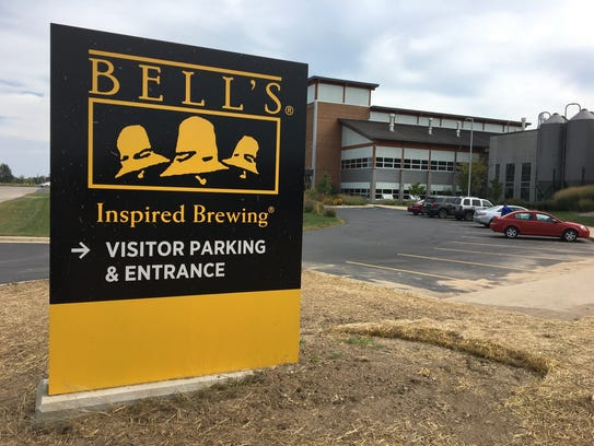 The entrance to Bell's Brewery in Comstock, pictured