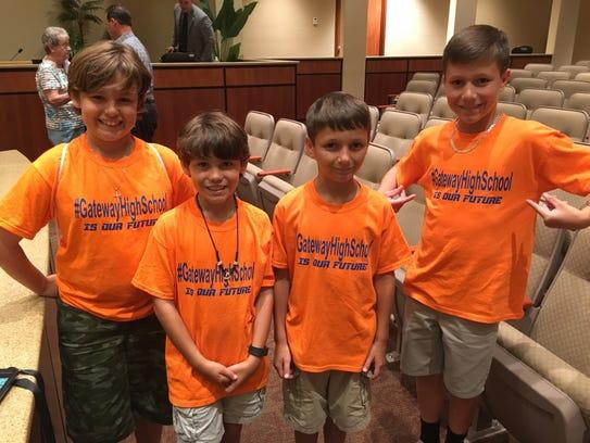 Children who live in Gateway wore bright orange shirts