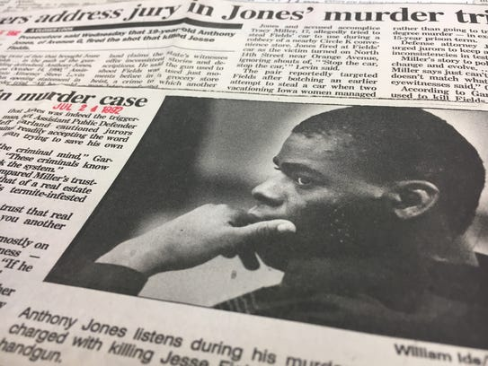 Clips from Anthony Jones case
