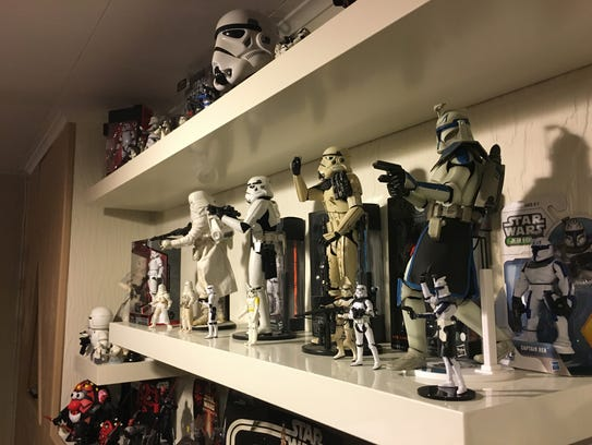 "Some of the ""Star Wars"" items in the collection of"