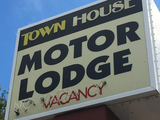 The Town House Motor Lodge is at the corner of Second