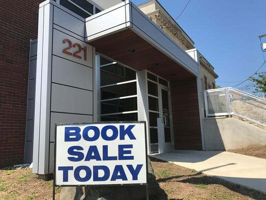 A book sale is underway at the Belleville Public Library