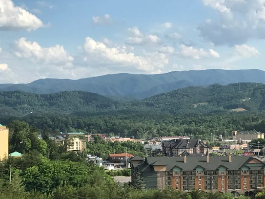 November's fire damage is not visible from Pigeon Forge