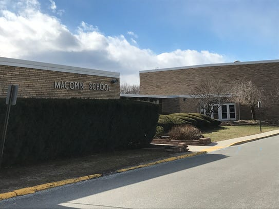 The Macopin Middle School stands on Highlander Drive