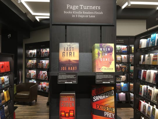 """The """"Page Turners"""" section in Amazon's Books store"""