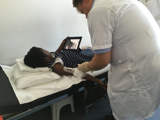 The Cologne clinic's technique uses the patient's blood
