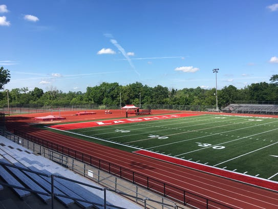 South endzone of the new Buddy LaRosa Field at Lancer