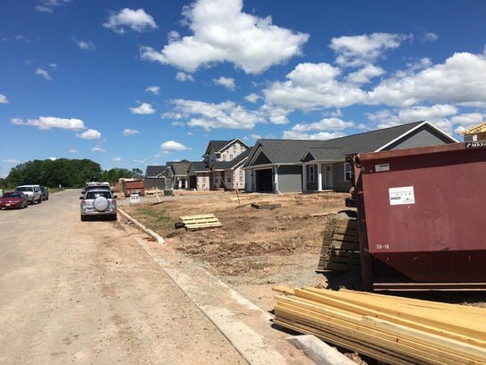 New homes are under construction in the Hemlock Creek