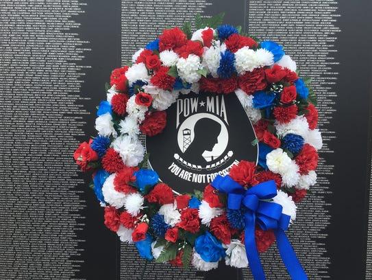 A dedication to POW/MIAs at the Vietnam Memorial Tribute