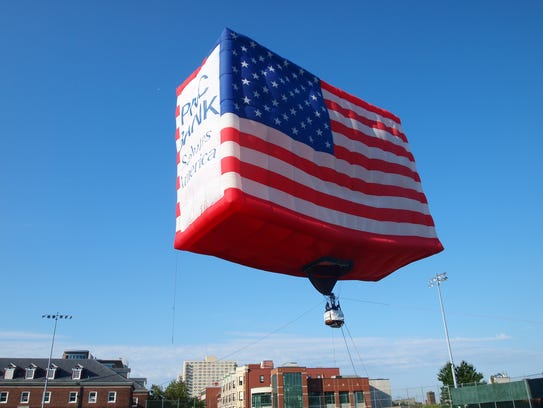 The PNC American Flag balloon, the world's largest