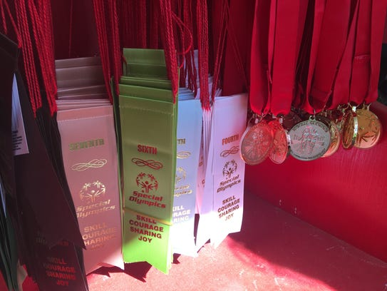 Ribbons and medals wait to be awarded during the Special