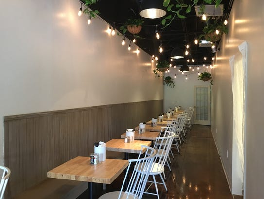 There are 38 seats inside the Farmacy Restaurant, 9430