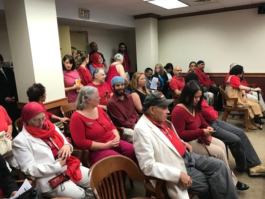 Ramapough Lenape Nation supporters awaiting oral arguments
