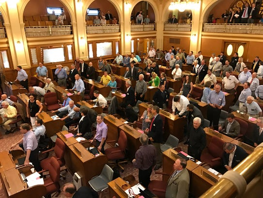 Lawmakers gathered in the South Dakota House Monday