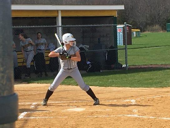 Watchung Hills center fielder Sophia Cicchetti
