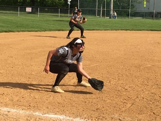 Brodgewater-Raritan third baseman Sarah Karmazyn