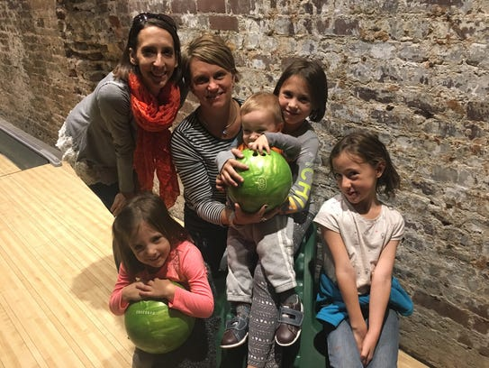 Lexi Rice and family out bowling in one of the last