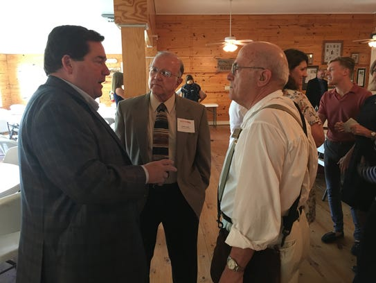 Lt. Gov. Billy Nungesser talks with LARC Executive